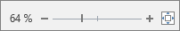 De zoomschuifregelaar voor het vergroten of verkleinen van de tekst wordt weergegeven.