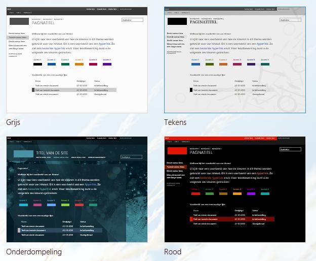 Het uiterlijk van een site wijzigen