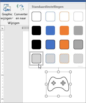 De grafische stijl van een pictogram bewerken