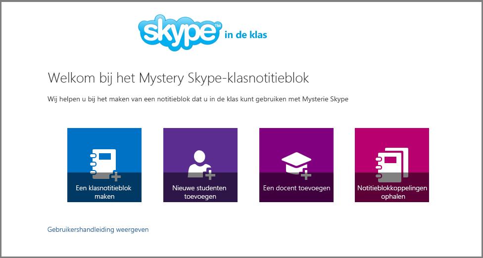 Welkom bij Mystery Skype