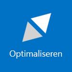 Schermafbeelding van een tegel met het woord Optimaliseren