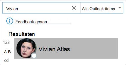 Zoeken in Outlook gebruiken om contactpersonen te zoeken
