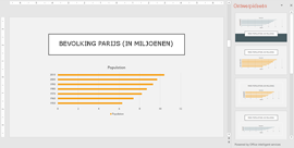 Met PowerPoint Designer krijgt u ontwerpideeën voor grafieken