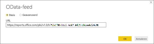 URL OData-feed voor Power BI Desktop