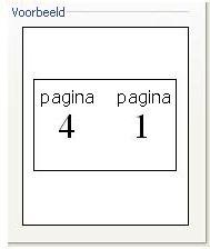 Voorbeeld van printerinstelling voor boekje