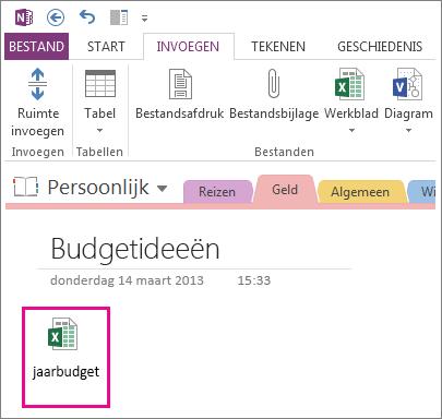 Een bestaand Excel-bestand invoegen