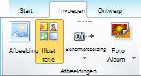 De ClipArt-opdracht op het tabblad invoegen van het lint in PowerPoint 2010