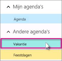 Kies een agenda