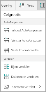 Opties voor AutoAanpassen in Windows Mobile