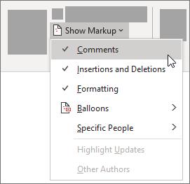Opties in de lijst markeringen weergeven