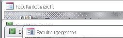 weergave van objectvensters in de overlappende weergave