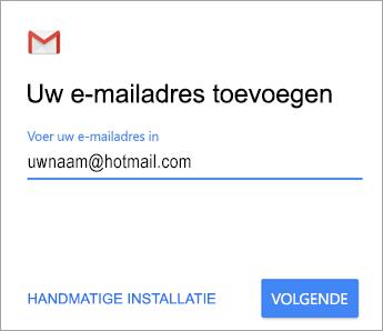 Uw e-mailadres toevoegen