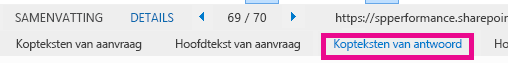 Screenshot of Details tab