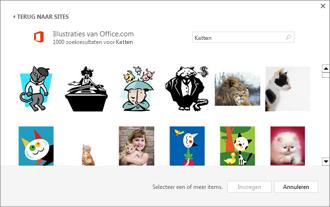 Voorbeeld van kattenafbeeldingen van de site Illustraties