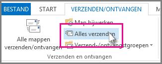 De knop Alles verzenden in Outlook 2013