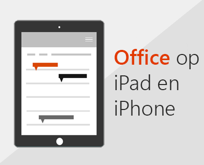 Klik om Office-apps in iOS in te stellen