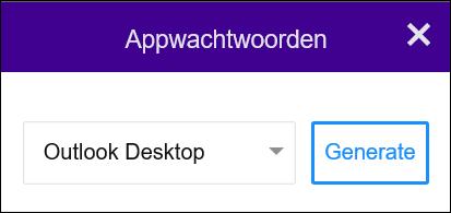Selecteer Outlook-bureaublad en vervolgens Genereren.