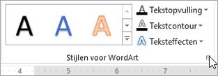 Startpictogram voor het dialoogvenster WordArt-stijlen selecteren