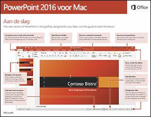 Aan de slag met PowerPoint 2016 voor Mac