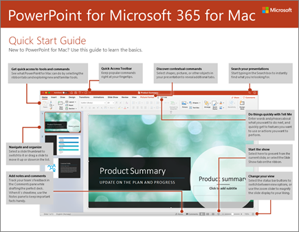 Aan de slag-handleiding voor PowerPoint 2016 voor Mac
