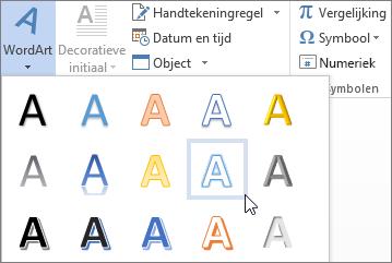 Een WordArt-optie kiezen