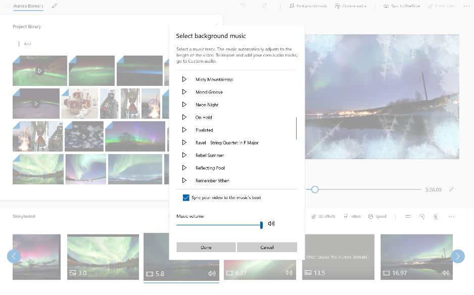 Muziek toevoegen aan uw video