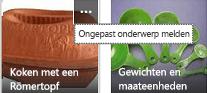 Klik op de opdracht Meer (...) in de rechterbovenhoek van een item als u dit als ongewenste inhoud wilt rapporteren.
