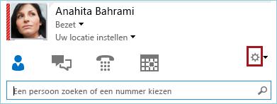 Schermafbeelding van de knop Opties