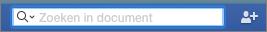 Voer de tekst in die u in het document wilt zoeken