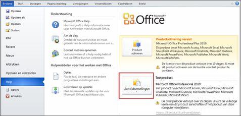 Verwijderen van de evaluatieversie van Office 2010