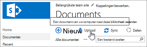 Document uploaden