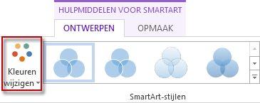 De optie Kleuren wijzigen in de groep SmartArt-stijlen