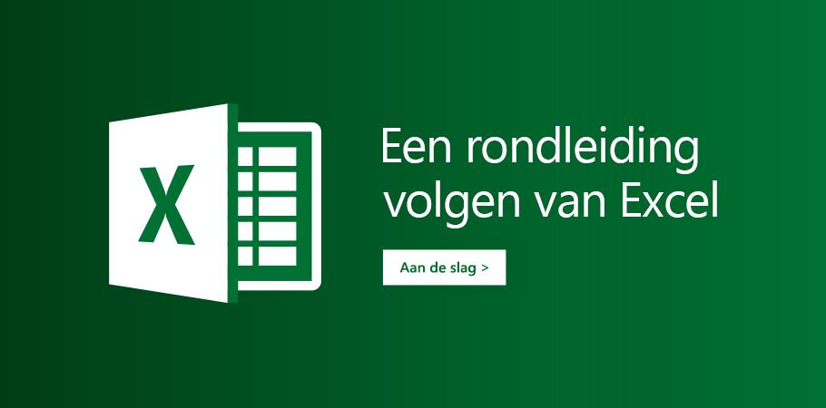 De sjabloon 'Een rondleiding volgen' voor Excel