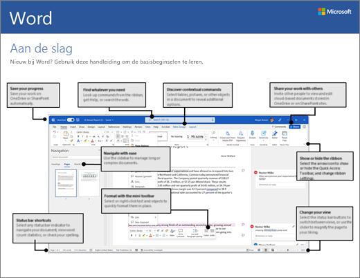 Aan de slag met Word 2016 (Windows)