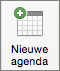 Knop Nieuwe agenda in Outlook 2016 Mac