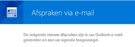 Outlook kan gebeurtenissen maken op basis van uw e-mailberichten