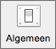 Het pictogram Algemeen wordt weergegeven in Outlook-voorkeuren.