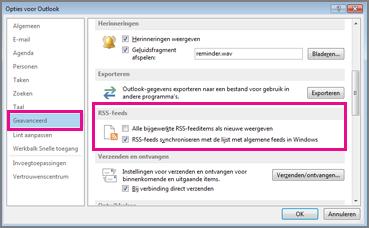 RSS-feeds synchroniseren