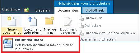 Een nieuw document toevoegen aan een documentbibliotheek