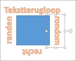 WordArt toevoegen rondom een vorm met rechte randen