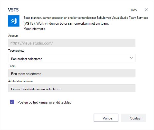 Visual Studio, dialoogvenster naar een bord toevoegen aan een tabblad