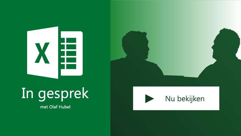 Twee personen die praten; In gesprek over Excel