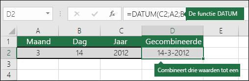 DATUM, functie - Voorbeeld 2