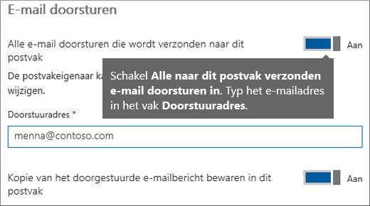 Voeg het e-mailadres van de huidige werknemer toe.