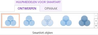 Groep SmartArt-stijlen op het tabblad Ontwerp van Hulpmiddelen voor SmartArt