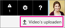 De knop Video's uploaden van Office 365 Video