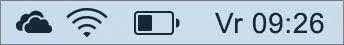 OneDrive-pictogram in het systeemvak Mac
