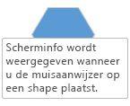 Er wordt een Visio-scherminfo weergegeven wanneer u de muisaanwijzer op een shape laat staan.