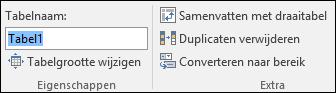 Afbeelding van het naamvak in de formulebalk van Excel voor het wijzigen van de naam van een tabel