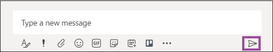 Typ een nieuw bericht en klik op verzenden.